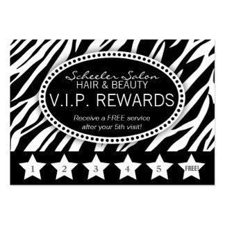 La lealtad del salón del estampado de zebra tarjetas de visita grandes