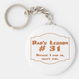 La lección #31 del papá: llaveros