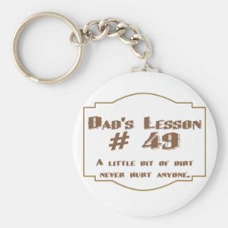 La lección #49 del papá: llavero