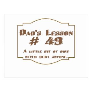La lección #49 del papá: postal