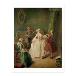 La lección de baile tarjeta postal
