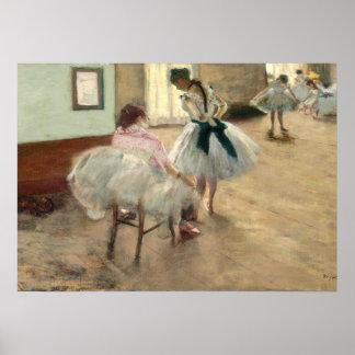 La lección de danza, c.1879 (aceite en lona) póster