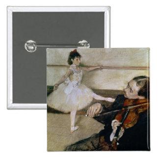 La lección de danza, c.1879 (en colores pastel) pin