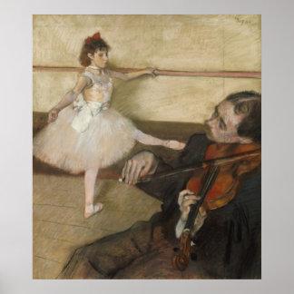 La lección de danza de Edgar Degas Póster