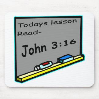 La lección de hoy leyó al cristiano 16 de Juan 3 Alfombrilla De Raton
