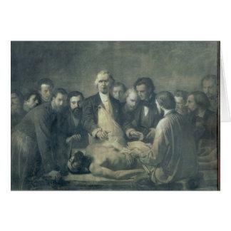 La lección de la anatomía del doctor Velpeau Tarjeta De Felicitación