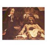La lección de la anatomía del Dr. Joan Deyman. Por Invitación 10,8 X 13,9 Cm