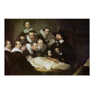 La lección de la anatomía del Dr. Nicolaes Tulp. Póster