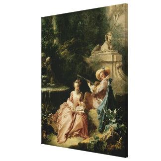 La lección de música, 1749 lona estirada galerías