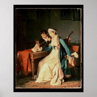La lección de música, 1790 posters
