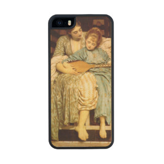 La lección de música de Federico Leighton Funda De Arce Carved® Para iPhone 5