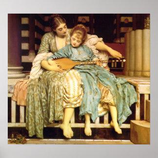 La lección de música de Federico Leighton Posters