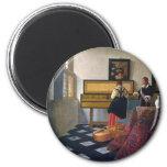 La lección de música de Juan Vermeer (circa1663) Imán Para Frigorifico