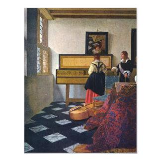 La lección de música de Juan Vermeer (circa1663) Invitación 10,8 X 13,9 Cm