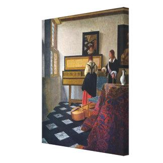 La lección de música de Juan Vermeer (circa1663) Impresión De Lienzo