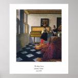 La lección de música de Juan Vermeer (circa1663) Poster