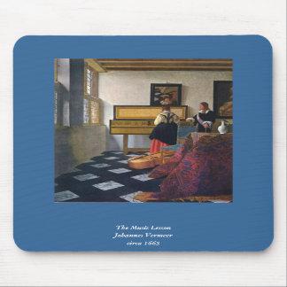 La lección de música de Juan Vermeer (circa1663) Tapete De Raton