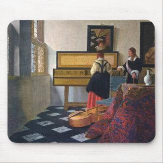 La lección de música de Juan Vermeer (circa1663) Alfombrilla De Raton