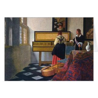 La lección de música de Juan Vermeer (circa1663) Tarjetón