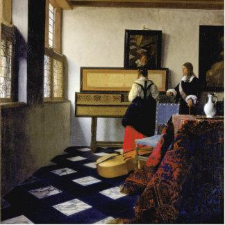 La lección de música de Juan Vermeer Esculturas Fotográficas
