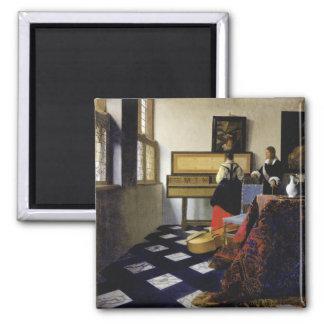 La lección de música de Juan Vermeer Imán Cuadrado
