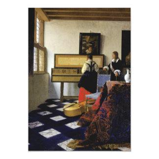 La lección de música de Juan Vermeer Invitacion Personalizada