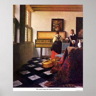 La lección de música de Juan Vermeer Impresiones