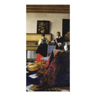 La lección de música de Juan Vermeer Tarjeta Fotográfica