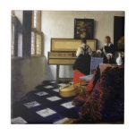 La lección de música de Juan Vermeer Teja Ceramica