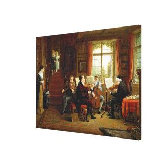 La lección de música lienzo envuelto para galerias