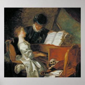 La lección de música póster