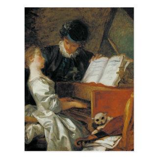 La lección de música tarjetas postales