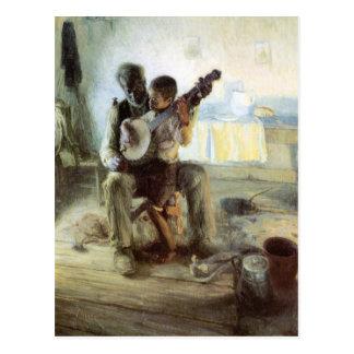 La lección del banjo tarjetas postales