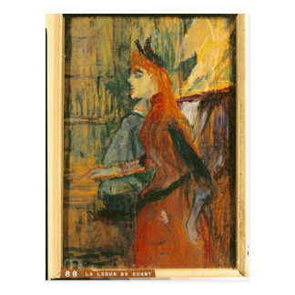 La lección del canto, 1882 postal