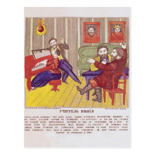 La lección del canto tarjeta postal
