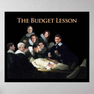 La lección del presupuesto póster