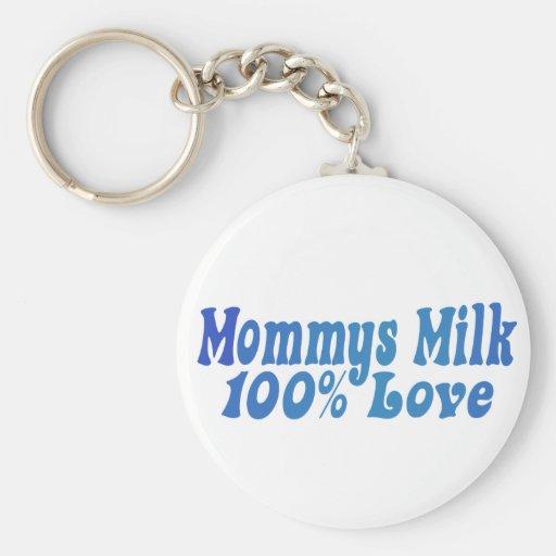 La leche de Mommys es AMOR Llavero Redondo Tipo Pin