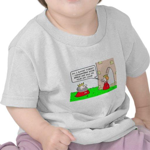 la leche del pan del rey requisa a la reina camisetas