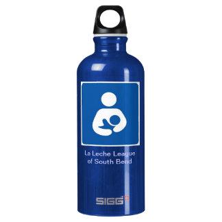 La Leche League of South Bend logo Aluminum Water Bottle