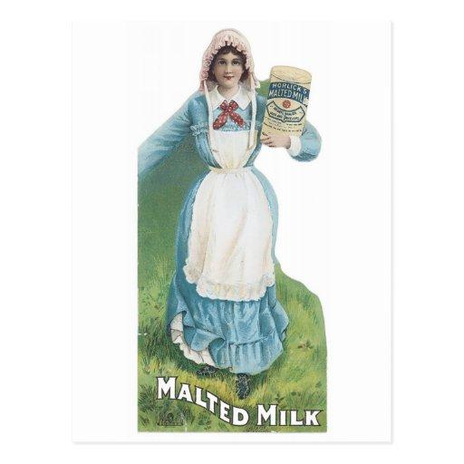 La leche malteada de Horlick Postal