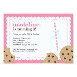 La leche y el rosa y Brown de las galletas invitan Anuncio Personalizado