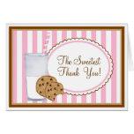 La leche y las galletas le agradecen tarjeta de no