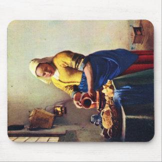 La lechera [1]. Por Juan Vermeer Tapetes De Ratones