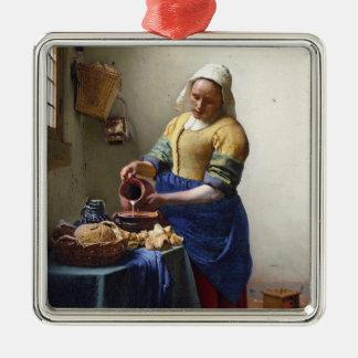 La lechera, c.1658-60 (aceite en lona) ornatos