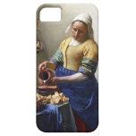 La lechera, c.1658-60 (aceite en lona) iPhone 5 Case-Mate cobertura