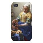 La lechera, c.1658-60 (aceite en lona) iPhone 4 carcasa