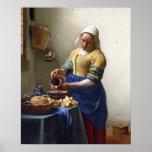 La lechera, c.1658-60 (aceite en lona) impresiones