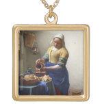 La lechera, c.1658-60 (aceite en lona) joyerías