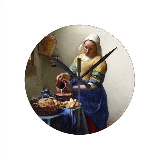 La lechera, c.1658-60 (aceite en lona) relojes
