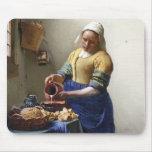 La lechera, c.1658-60 (aceite en lona) alfombrilla de ratones